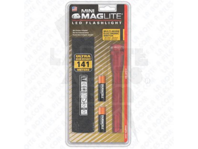 MINI MAG-LED 2 AA ROUGE ( EN BLISTER AVEC ÉTUI NYLON NOIR ) img.jpg