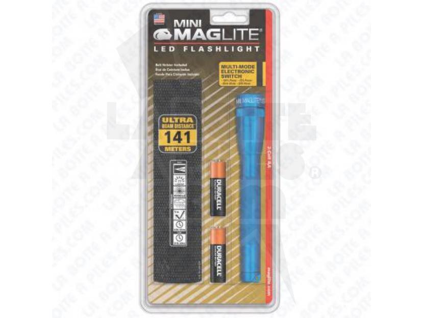 MINI MAG 2AA LED-BLEUE ( EN BLISTER AVEC ÉTUI NYLON NOIR ) img.jpg