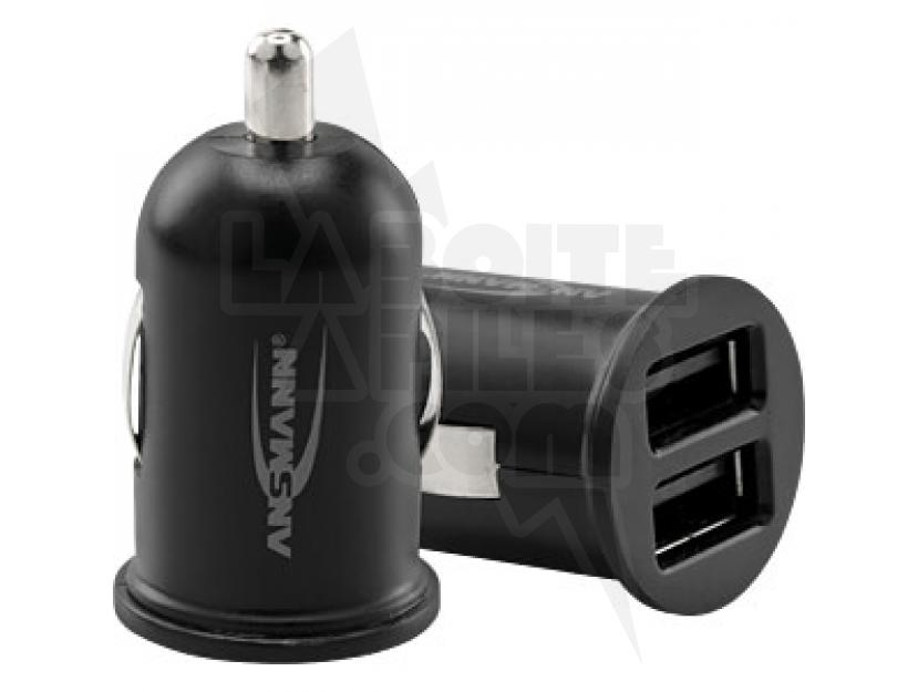 CHARGEUR VOITURE 2 USB ANSMANN CHARGER 224 img.jpg