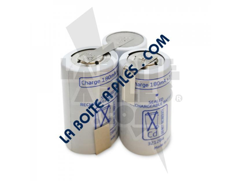 BATTERIE NICD 3.6V POUR COUPE BORDURE CISAILLE WOLF ACCU 60 - 7084 916 / SANYO 3KR-1700SC/V - 7084058 img.jpg